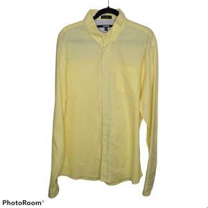Carbon Yellow Button Down Slim Fit Men's Top XXL